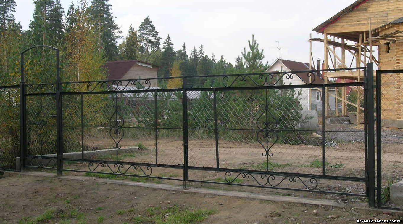 Ворота и калитка дача выдвижные ворота киев